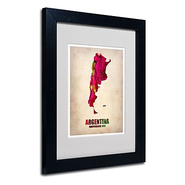 Trademark Fine Art 'Argentina Watercolor Map'