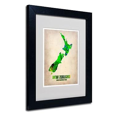 Trademark Fine Art 'New Zealand Watercolor Map'
