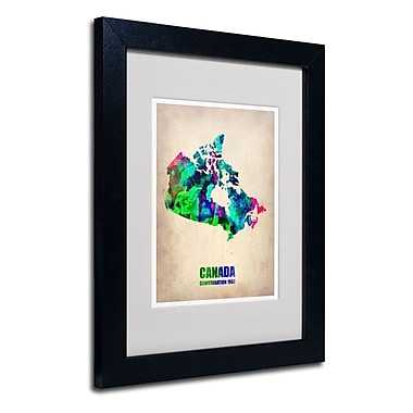 Trademark Fine Art 'Canada Watercolor Map'