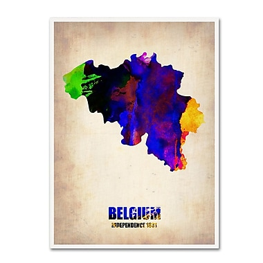 Trademark Fine Art 'Belgium Watercolor Map' 14
