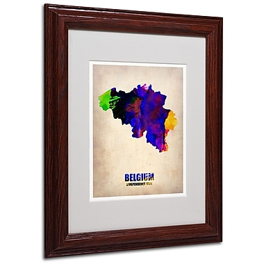 Trademark Fine Art 'Belgium Watercolor Map' 11
