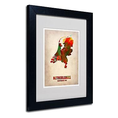 Trademark Fine Art 'Netherlands Watercolor Map' 11
