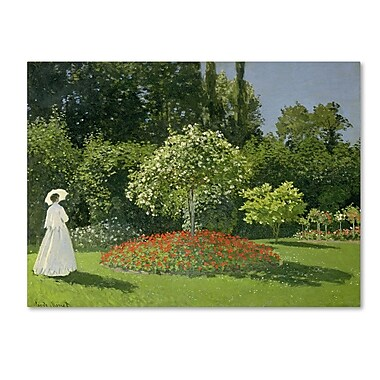Trademark Fine Art 'Jeanne Marie Lecadre in the Garden' 35