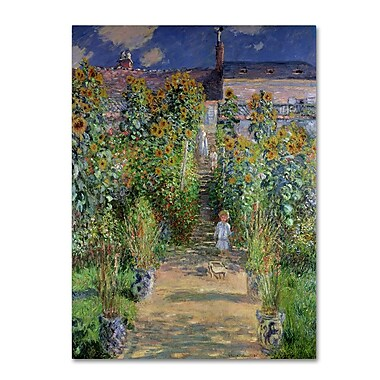 Trademark Fine Art 'The Artist's Garden at Vetheuil' 35