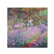 Trademark Fine Art 'The Artist's Garden at Giverny'