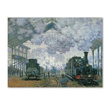 Trademark Fine Art 'Gare Saint-Lazare Arrival of a Train' 18