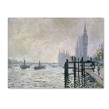 Trademark Fine Art 'The Thames Below Westminster' 14