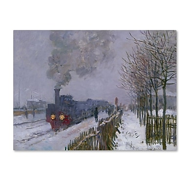 Trademark Fine Art 'Train In the Snow' 24