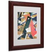 "Trademark Fine Art 'Abstract II' 11"" x 14"" Wood Frame Art"