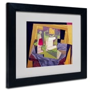 "Trademark Fine Art 'Composition on a Table' 11"" x 14"" Black Frame Art"