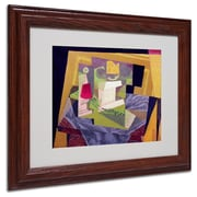 "Trademark Fine Art 'Composition on a Table' 11"" x 14"" Wood Frame Art"
