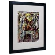 """Trademark Fine Art 'Pearl Jam' 16"""" x 20"""" Black Frame Art"""