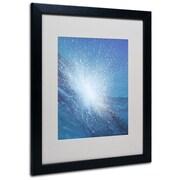 """Trademark Fine Art 'Sea Picture VI' 16"""" x 20"""" Black Frame Art"""