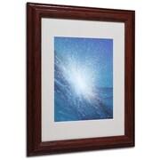"""Trademark Fine Art 'Sea Picture VI' 11"""" x 14"""" Wood Frame Art"""
