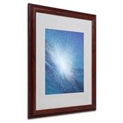 """Trademark Fine Art 'Sea Picture VI' 16"""" x 20"""" Wood Frame Art"""