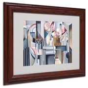 "Trademark Fine Art 'Still Life With Brown Jug' 11"" x 14"" Wood Frame Art"