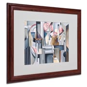 "Trademark Fine Art 'Still Life With Brown Jug' 16"" x 20"" Wood Frame Art"