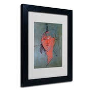 Trademark Fine Art 'The Red Head' 11 x 14 Black Frame Art