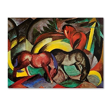 Trademark Fine Art 'Three Horses' 35