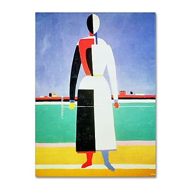 Trademark Fine Art 'Woman With Rake' 35