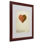"Trademark Fine Art 'Beauty and the Beast' 16"" x 20"" Wood Frame Art"