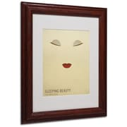 "Trademark Fine Art 'Sleeping Beauty' 11"" x 14"" Wood Frame Art"