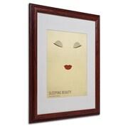 "Trademark Fine Art 'Sleeping Beauty' 16"" x 20"" Wood Frame Art"