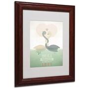 "Trademark Fine Art 'Paraducks' 11"" x 14"" Wood Frame Art"