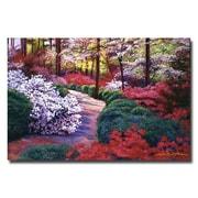 "Trademark Fine Art 'April Beauties' 16"" x 24"" Canvas Art"