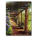 Trademark Fine Art 'Pergola Walkway' 24in. x 32in. Canvas Art