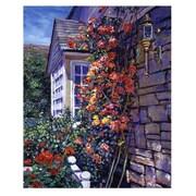 """Trademark Fine Art 'Magnificent Climbing Roses' 18"""" x 24"""" Canvas Art"""
