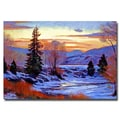 Trademark Fine Art 'Early Spring Daybreak' 30in. x 47in. Canvas Art