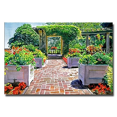 Trademark Fine Art 'The Beautiful Italian Garden'
