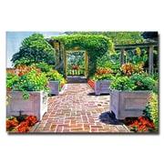 "Trademark Fine Art 'The Beautiful Italian Garden' 30"" x 47"" Canvas Art"