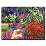 Trademark Fine Art 'Romantic Garden Walk' 24 x