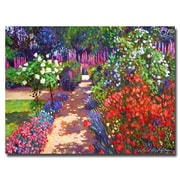 Trademark Fine Art 'Romantic Garden Walk' 18 x 24 Canvas Art