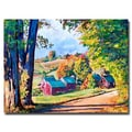 Trademark Fine Art 'Road to Jenne Farm Vermont' 24in. x 32in. Canvas Art