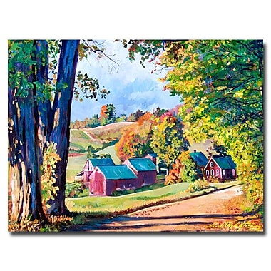 Trademark Fine Art 'Road to Jenne Farm Vermont ' 18