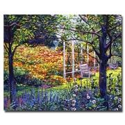 Trademark Fine Art 'Garden for Dreaming' 26 x 32 Canvas Art