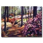 "Trademark Fine Art 'Azalea Forest' 18"" x 24"" Canvas Art"