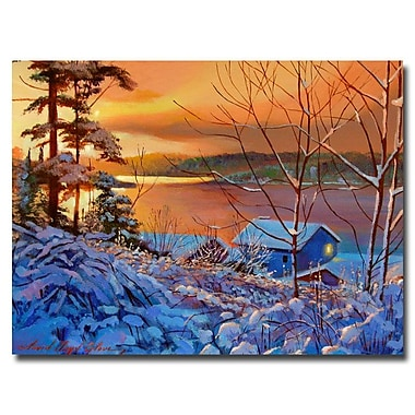 Trademark Fine Art 'Winter Day Begins' 35