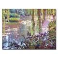 Trademark Fine Art 'Homage to Monet' 35in. x 47in. Canvas Art