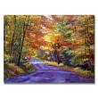 "Trademark Fine Art 'New England Road' 24"" x 32"" Canvas Art"