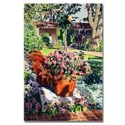 "Trademark Fine Art 'Santa Barbra Garden' 35"" x 47"" Canvas Art"