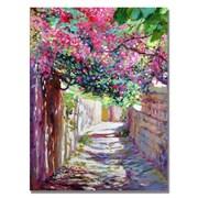 "Trademark Fine Art 'Shady Lane Greece' 18"" x 24"" Canvas Art"