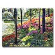 "Trademark Fine Art 'Azalea Forest Grove' 35"" x 47"" Canvas Art"