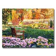 """Trademark Fine Art 'Secret Garden Chair' 18"""" x 24"""" Canvas Art"""