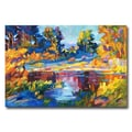 Trademark Fine Art 'Reflections on a Quiet Lake' 22in. x 32in. Canvas Art