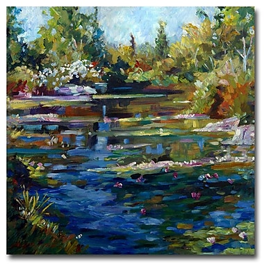 Trademark Fine Art 'Blooming Lily Pond' 24