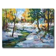 "Trademark Fine Art 'Early Snowfall' 24"" x 32"" Canvas Art"